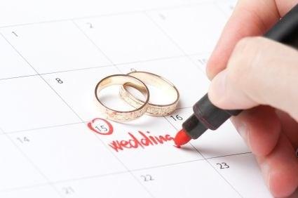 Temporadas altas y bajas para casarse